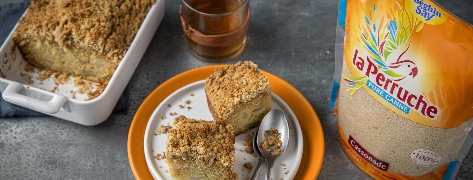 Crumble cake poire_La Perruche