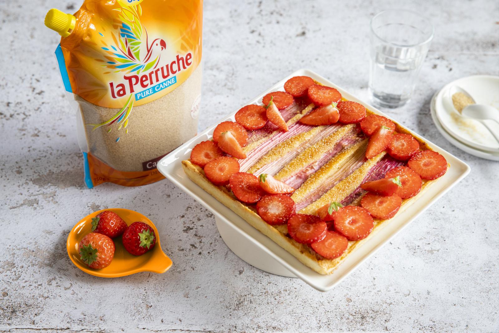 Tarte fraises rhubarbe_la Perruche